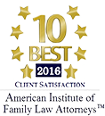 2016 10 Best American Institute of Family Law Attorneys